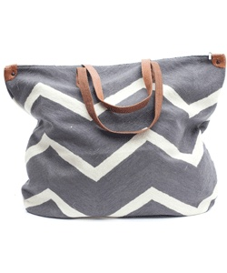 Chic simple tote in gray and white