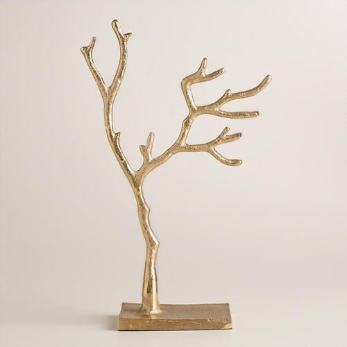 One of my favorite discoveries at WorldMarket.com: Small Gold Tree Jewelry Stand