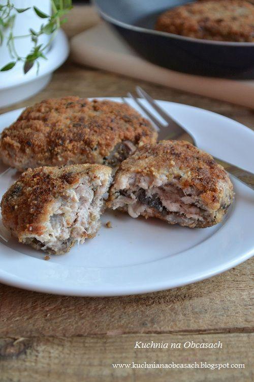 Chops with mushrooms - Kotlety mielone z pieczarkami