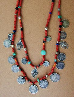 THIS IS MY VERSION OF A GUATEMALAN CHACHAL Each time I visited Guatemala as an adult I sought the antique silver coins that accent this neck...