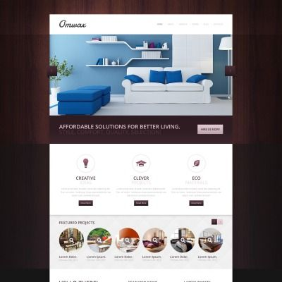 Drupal Theme for Interior Design Website