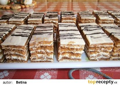 Kakaové medové řezy recept - TopRecepty.cz