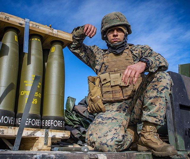 U S Marine Corps Cpl Michael T Gambino An Ammunition Technician With Hotel Battery 3rd Battalion 14th Marine Regiment 4th M Marine Corps Poses Battalion