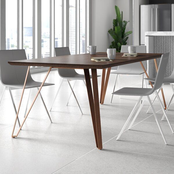 Cressex 87 L X 41 W Solid Wood Table In 2020 Solid Wood Table