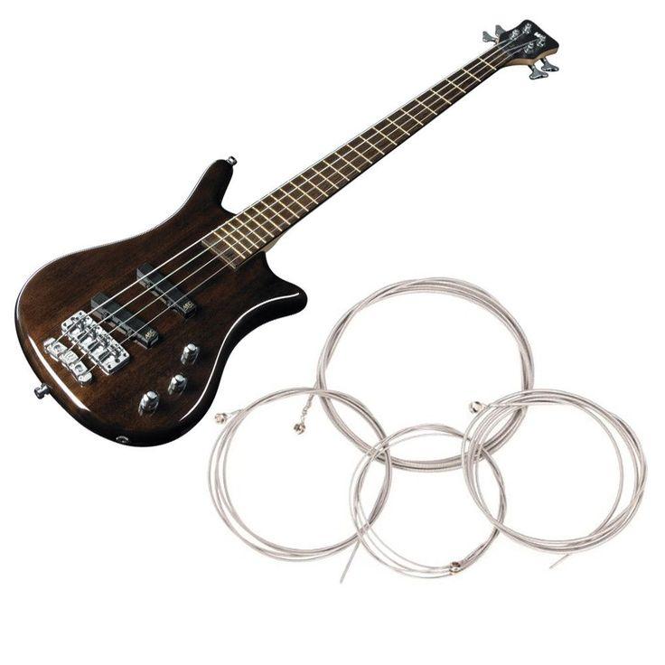1 Set of 4 Pcs String Bass Guitar Parts 4 Steel Strings Diameter 0.1 inch/0.08 inch/0.055 inch/0.04 inch Guitar Accessories