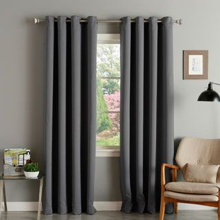 Aurora Home Thermal Insulated Blackout Grommet Top 84-inch Curtain Panel Pair | Overstock.com Shopping - The Best Deals on Curtains
