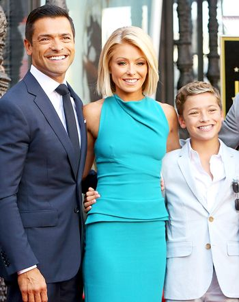Kelly Ripa, Mark Consuelos' Look-Alike Kids Attend Star Ceremony: Pics - Us Weekly