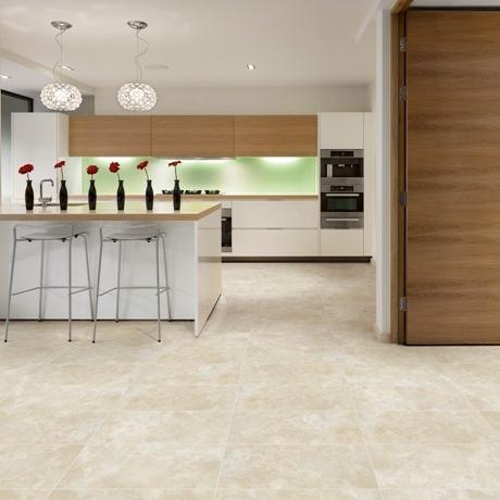 Polyflor Camaro Portico Limestone Vinyl Flooring Tiles   Every Floor Direct