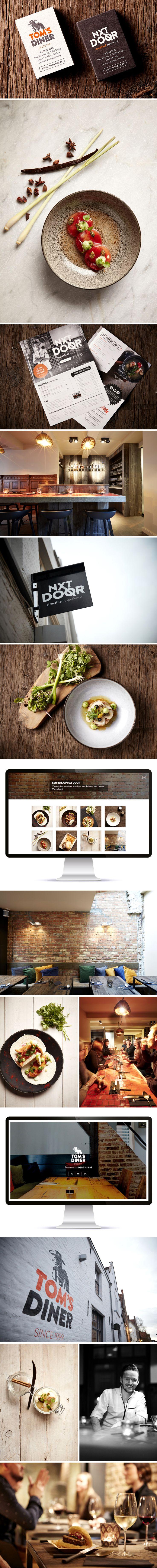 Tom's Diner & Nxt Door Logo - visitekaartjes - fotografie - webdesign