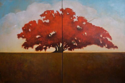 "Nikol Haskova FROM DEEP WITHIN / Canada House Gallery - acrylic, canvas 48"" x 72"""