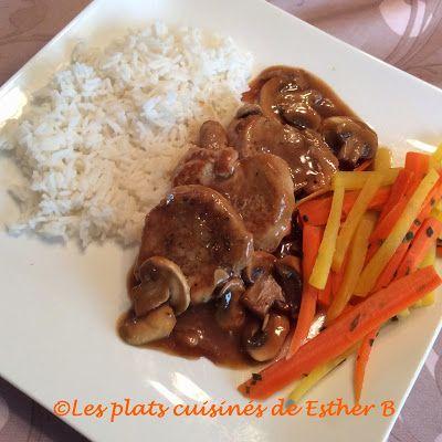 Les plats cuisinés de Esther B: Médaillons de porc, sauce aux champignons