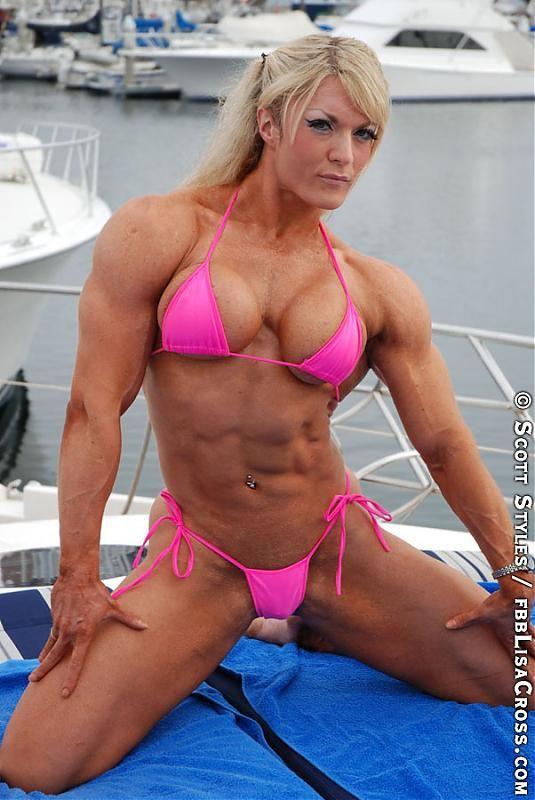Muscular female bodybuilder lisa cross topless video 5