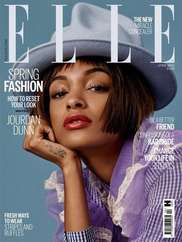 Jourdan Dunn for Elle UK by Bjarne Jonasson