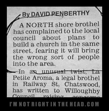 A north shore brothel has complained to the local council about...