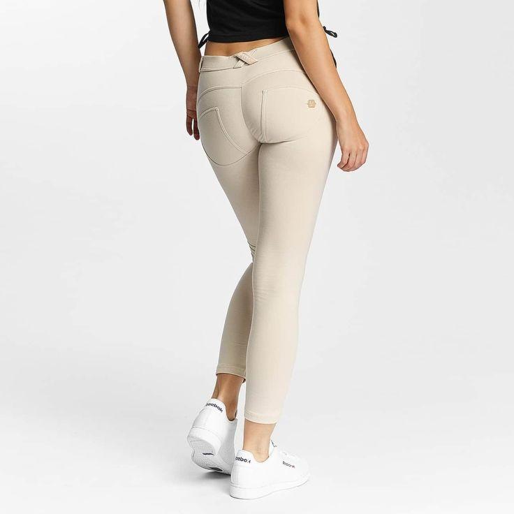 #Damen Freddy Frauen Skinny Jeans 7/8 Regular in beige, 08056226078806