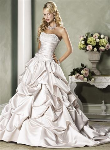 Not so crazy about the bodice, but the bottom.. with the pickups... gorgeous!