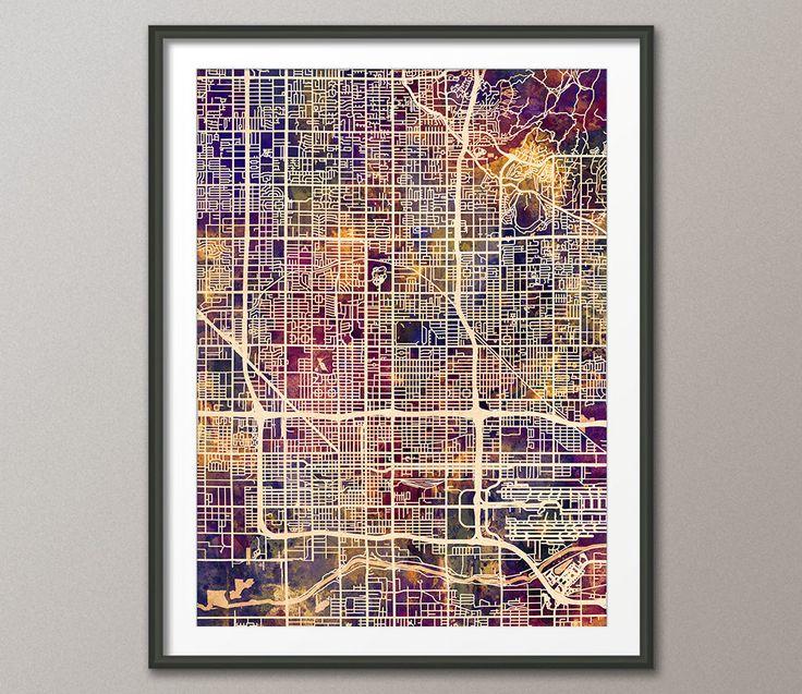 Phoenix Map, Phoenix Arizona City Map, Art Print (2995) by artPause on Etsy