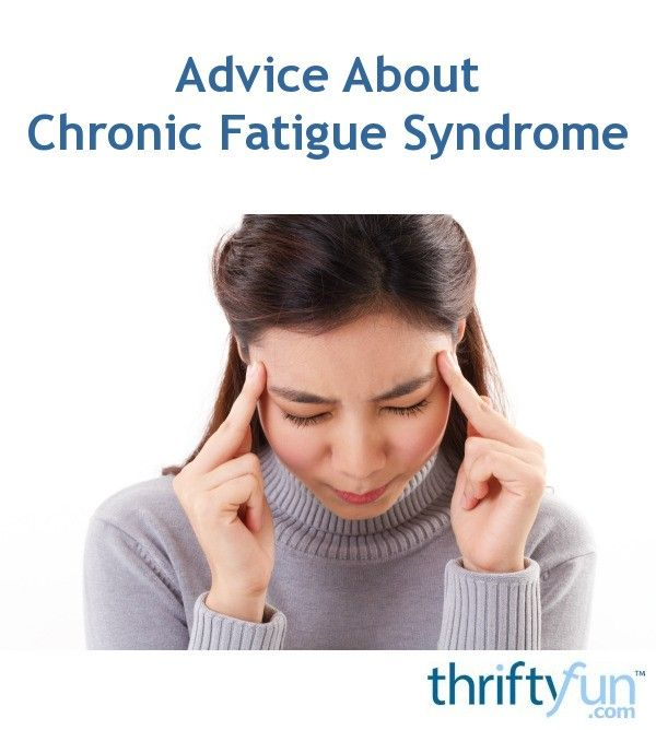The cause of this disorder which is characterized by chronic fatigue, not relieved by rest, is not the result of a known underlying medical condition. It can be quite debilitating. This page contains advice about chronic fatigue syndrome.