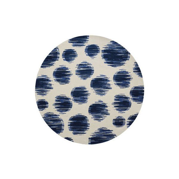 Twilight Kipling Dot Rug (217.220 RUB) ❤ liked on Polyvore featuring home, rugs, blue, blue woven rug, dot rug, handmade area rugs, transitional area rugs and transitional rugs
