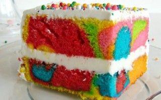 Receita de Bolo redemoinho arco-iris