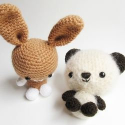Make this cute bunny and teddy bear!