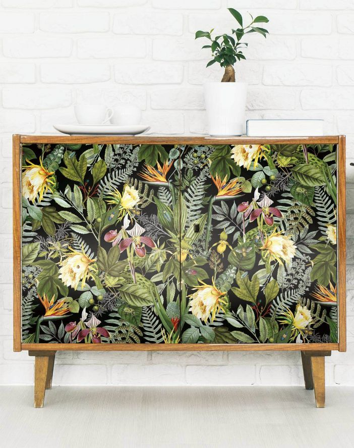 16 Creative Ways To Use Peel And Stick Wallpaper Living In A Shoebox Wallpaper Furniture Decor Diy Wallpaper