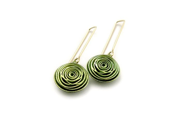 Digital 31 earrings, by Stefania Lucchetta