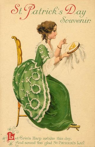 st patrick's day vintage images | Vintage St. Patrick's Day Postcard
