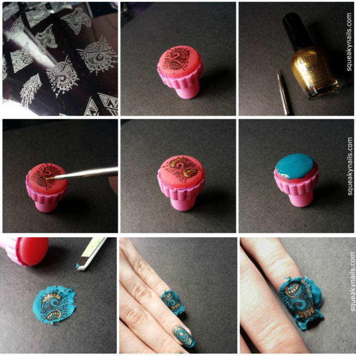 Tutorial - Stamping Decals http://www.squeakynails.com/2014/08/tutorial-stamping-decals.html #tutorial #nailart