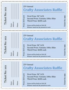 Numbered Raffle Ticket Template Free 38 Best Fundraising Images On Pinterest  Church Fundraisers .