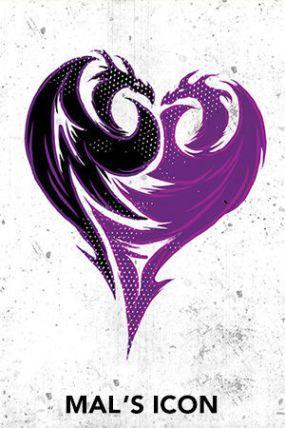 Mal's icon - Free Disney Descendants Printables & Activities | SKGaleana: