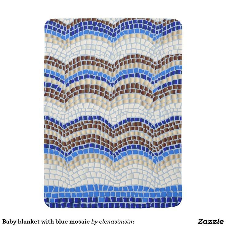 Baby blanket with blue mosaic