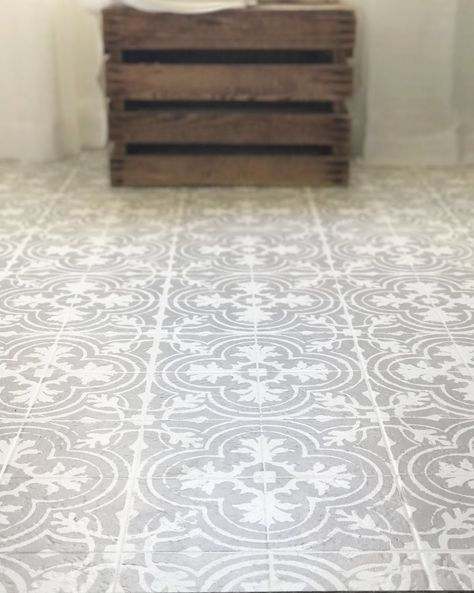Superior How To Paint Your Linoleum Or Tile Floors To Look Like Patterned Cement Tile   Tutorial Part 28