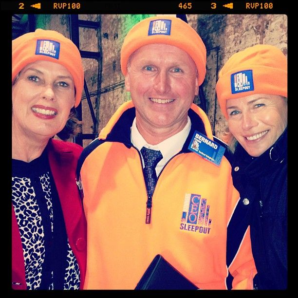 @xtiina911 @deborahthomas10 and I with founder St Vinnies CEO Sleepout Bernie Fehon