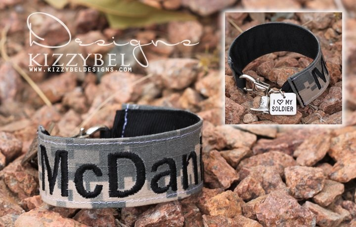 I had an idea to create special bracelets for those who have loved ones in the military and look what I found. So cute!!
