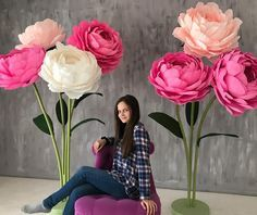 Obří růže * z papíru ♥♥♥