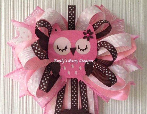 Distintivos para baby shower de buhos - Imagui