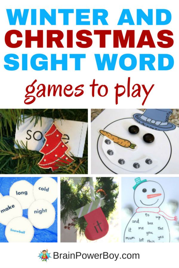 Winter and Christmas Sight Word Games