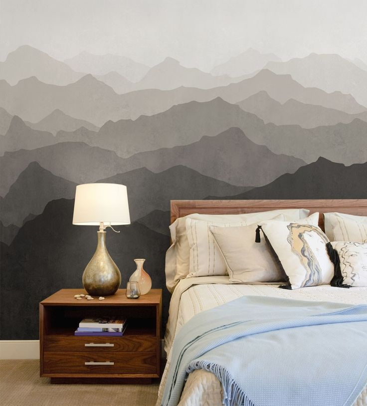 17 best ideas about mountain wallpaper on pinterest for Diy mountain mural