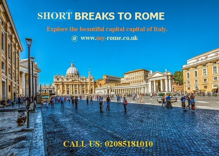 Short breaks to Rome: Create a perfect tailor-made short breaks to Rome with http://www.my-rome.co.uk/rome-holidays.aspx. With a selective range of 3 to 5 star hotels, go for flight packages as well.