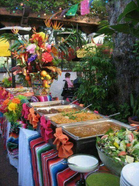 Buffet tipico mexicano