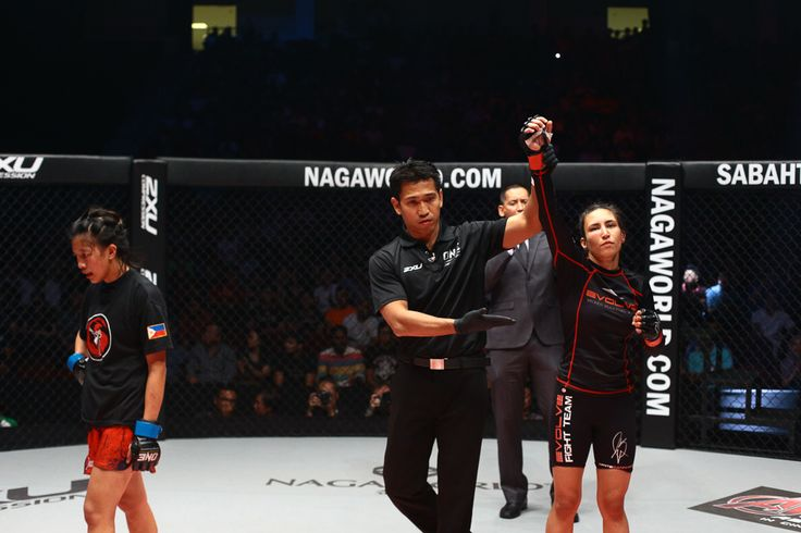Women's Atomweight bout: Kirstie Gannaway defeats April Osenio by Submission (Rear Naked Choke) at 2:50 minutes of round 2