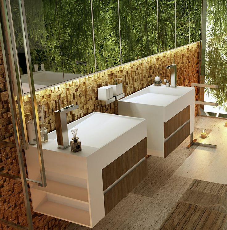 New 2014 CUBIC XS #lavabo in #Corian design by Arch. Ignazio Di Masi