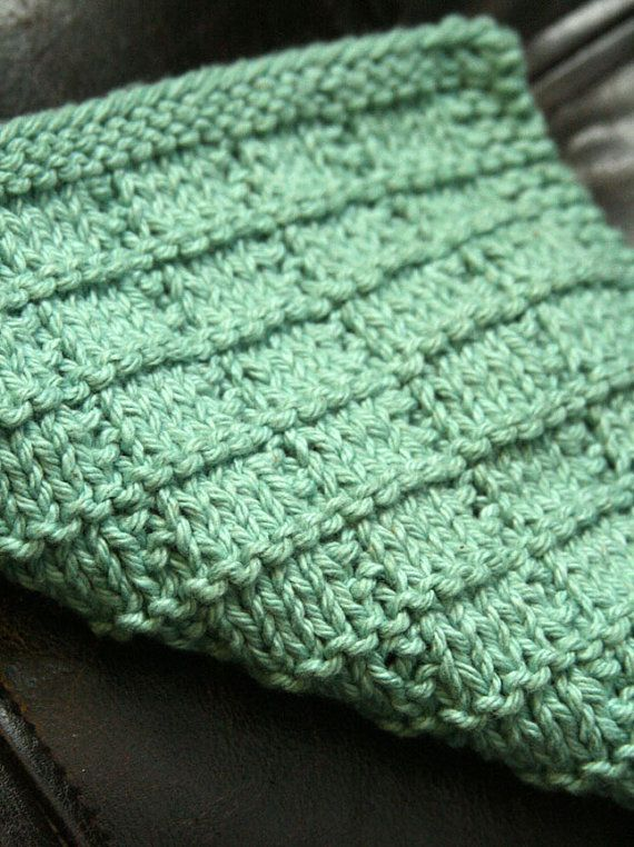 Knitting Pattern PDF Dishcloth Hidden Squares