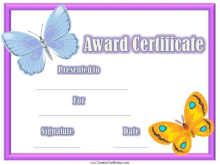 free printable childrens certificates templates - certificates for kids 3mnjvlkb awards pinterest free