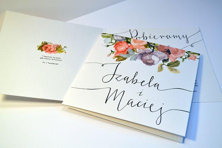 zaproszenia z motywem kwiatowym