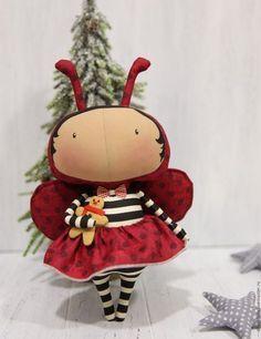 Купить или заказать тильда кукла в интернет-магазине на Ярмарке Мастеров. Кукла тильда малышка в костюме божьей коровки, прекрасный подарок для…