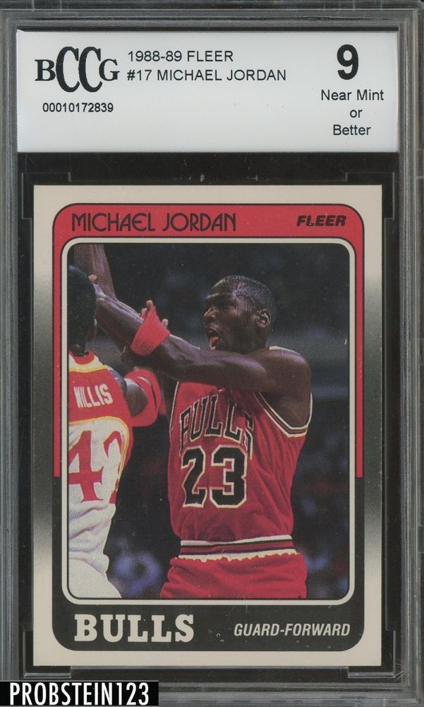 020ffe9466eb54 1988-89 Fleer Basketball  17 Michael Jordan Chicago Bulls HOF PSA 9  CENTERED  MichaelJordan  SportsCards  Collect