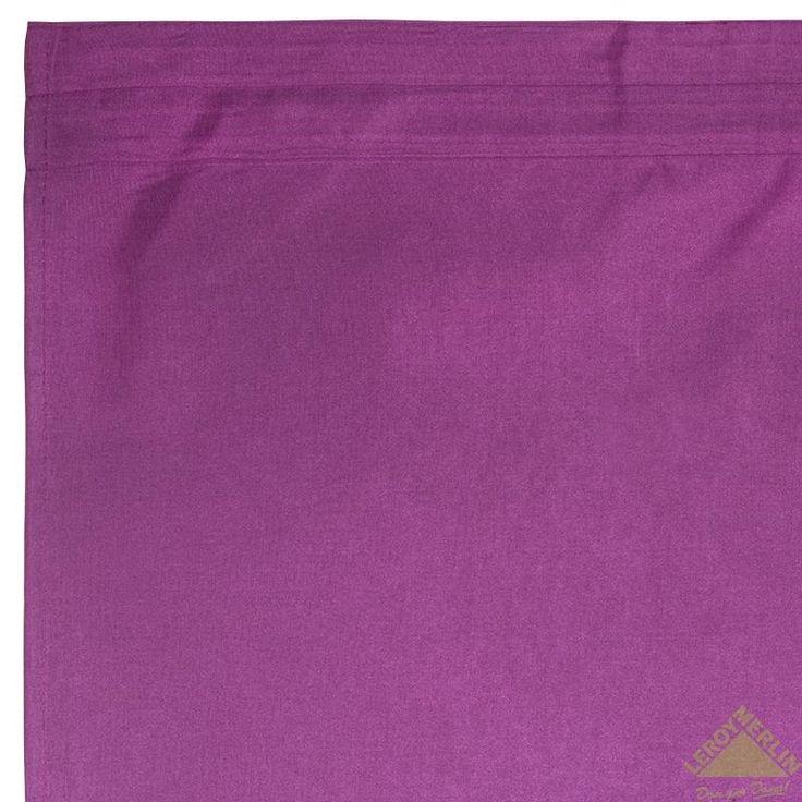 Штора 200x280 см, тафт, хлопок, лента, фиолетовая, Шторы готовые - Каталог Леруа Мерлен