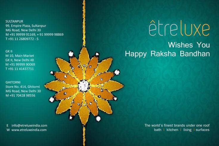 Celebrate loving relationships – Happy Rakshabandhan from Team @ETRELUXE